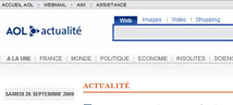 AOL actualité : Optimisation du site