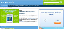 AOL Mobile : Optimisation du site